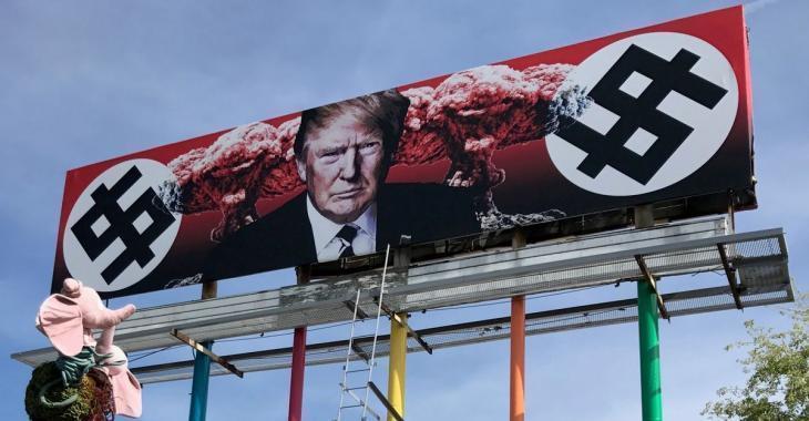 Un panneau d'affichage représentant Donald Trump fait énormément jaser…