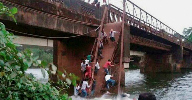 Un mort dans l'effondrement d'un pont