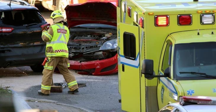 Un blessé grave dans une violente collision