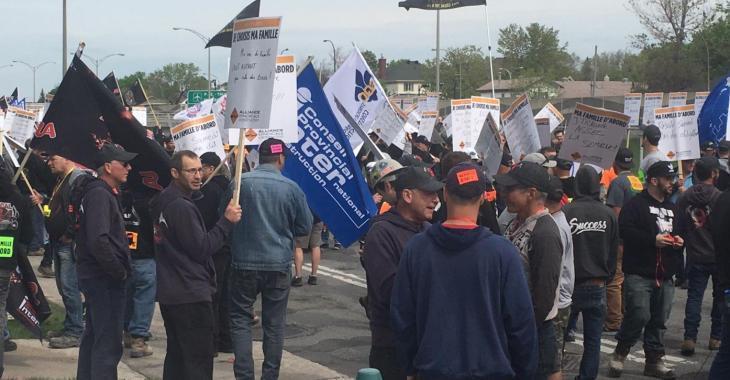 Développement majeur concernant la grève dans le secteur de la construction