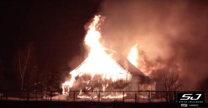 Incendie majeur la nuit dernière
