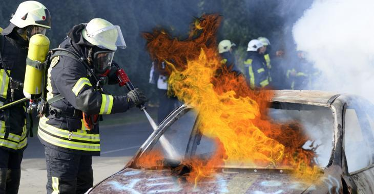 ACCIDENT |Un véhicule en flammes crée un important ralentissement