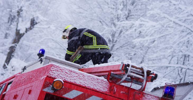 Un incendie à cause d'un poêle
