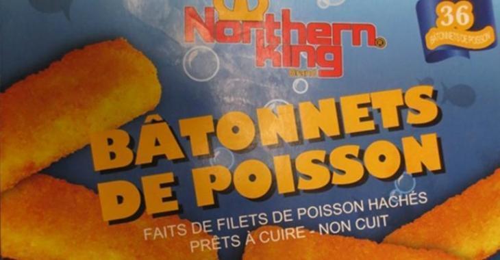 Important rappel de produits congelés à base de poisson