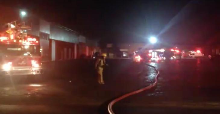 Violent incendie dans les locaux d'une entreprise québécoise