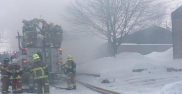 Incendie en cours dans une résidence