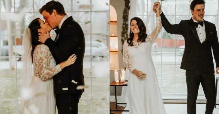 Obligé d'annuler leur mariage, un couple se dit «oui» dans son salon