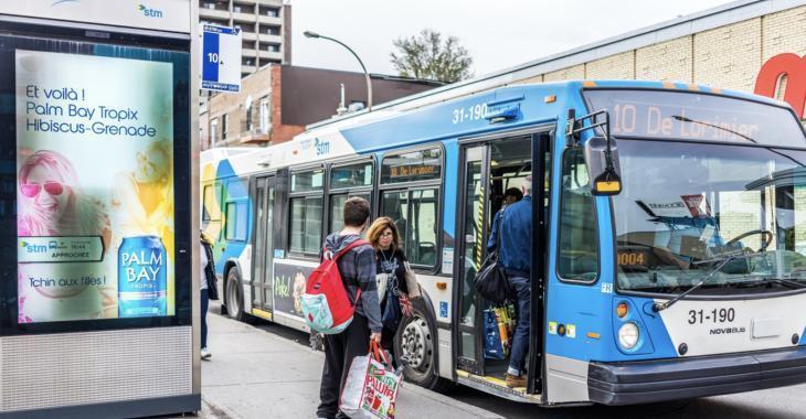 La STM indique que les autobus peuvent être en surcharge.