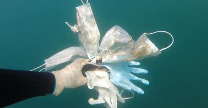 La Côte d'Azur sévèrement polluée par les masques et les gants