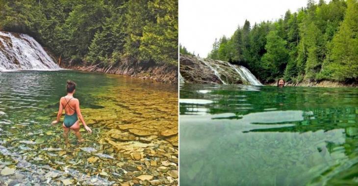 En Gaspésie, une rivière couleur émeraude fascine les touristes