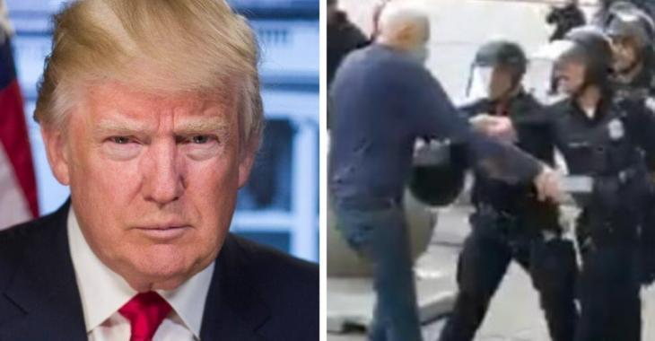 Donald Trump lance que la vidéo d'un manifestant de 75 ans blessé par la police pourrait être un coup monté