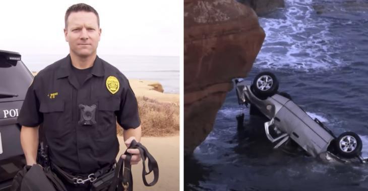 Un père suicidaire qui s'est jeté d'une falaise avec ses deux enfants sont sauvés par un policier.
