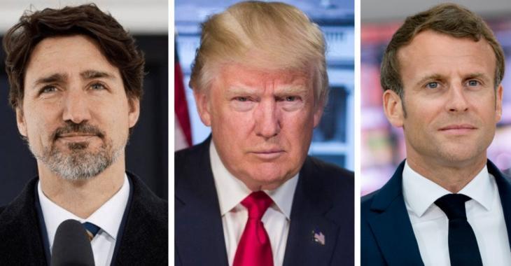 Donald Trump n'aime pas Justin Trudeau et Emmanuel Macron