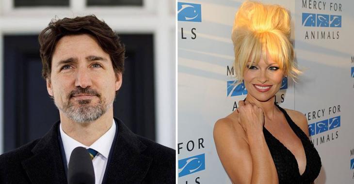 Pamela Anderson veut aider Justin Trudeau à devenir végétarien