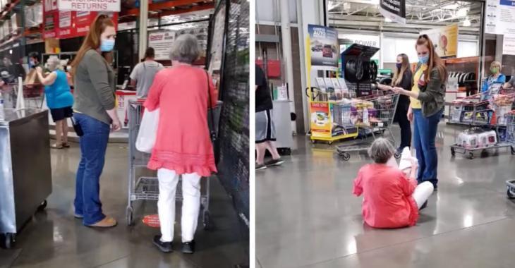 Une femme de 77 ans fait une crise au Costco car elle ne veut pas porter de masque