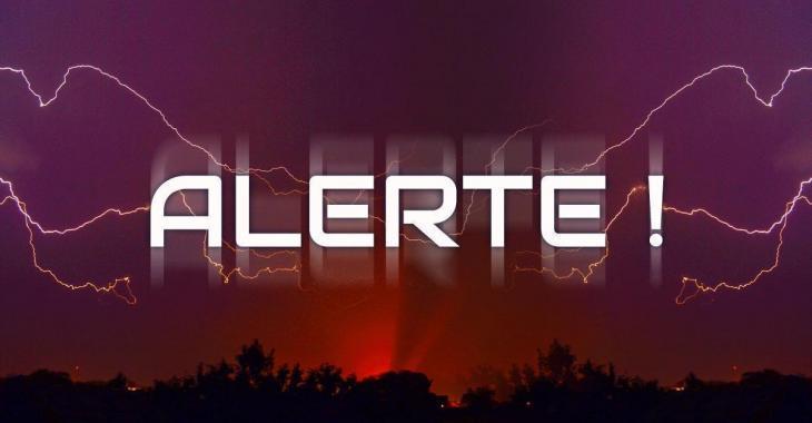 Des orages violents menacent de frapper la province.