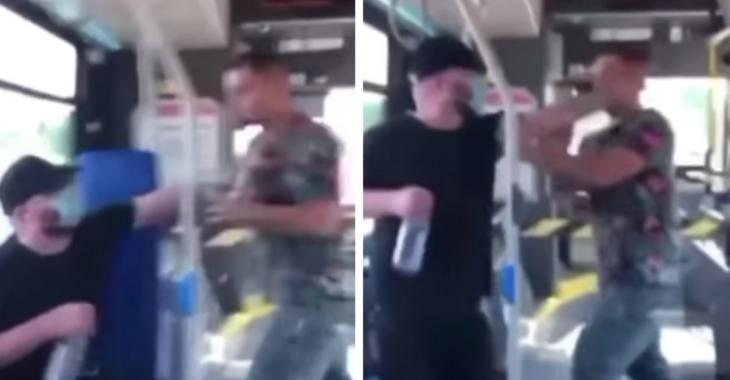 Une bagarre éclate dans un bus à cause d'un passager ne voulant pas porter de masque