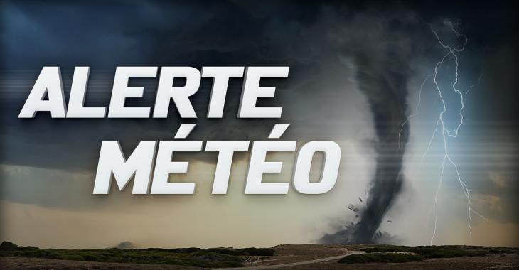ALERTE MÉTÉO: Orages forts et risques de tornades