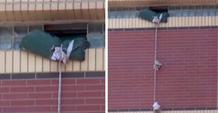 Ils s'échappent du 12e étage de leur prison grâce à une corde fabriquée avec des draps