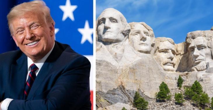 Donald Trump aimerait bien avoir sa tête sur le Mont Rushmore