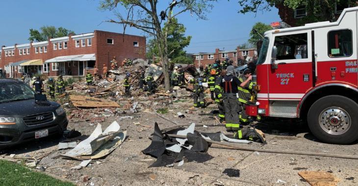 Explosion à Baltimore: au moins un mort et plusieurs blessés