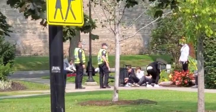 La police sépare des jeunes «trop collés» dans un parc